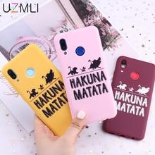 For Samsung Galaxy S20 Ultra S10 e S9 S8 Plus Note 10 9 A71 A51 A20E A70 A50 A30 A7 Hakuna Matata Lion King Candy Soft TPU Case
