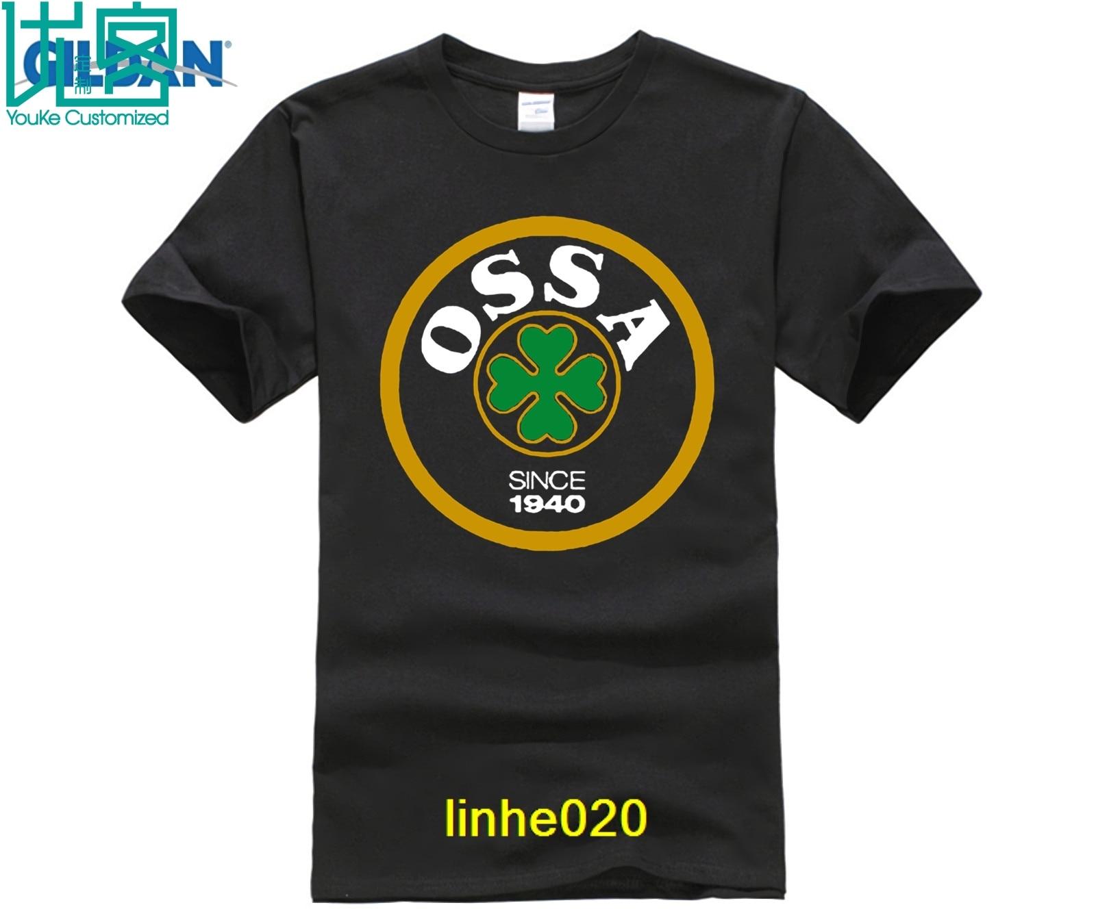 Classic OSSA Retro  Logo Tee Shirt Men's  T-shirt  Lambretta Scooter Gilera Derbi Moto Guzzi Aprilia  Motorbike
