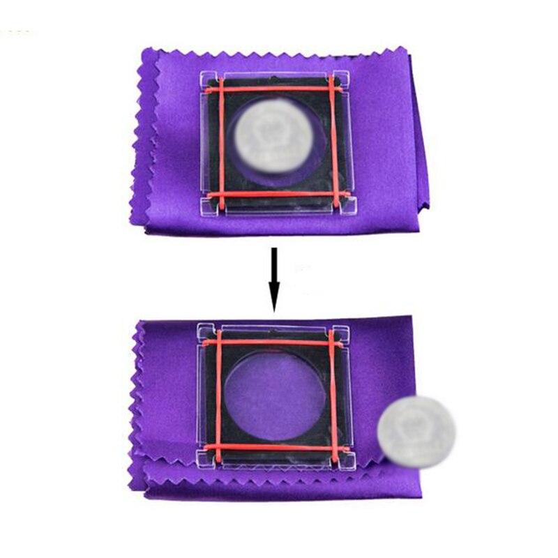 Huida de monedas Moneda de trucos mágicos vuelo para niños principiante magos moneda fantástica que desaparece accesorios mágicos 82002
