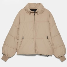 Winter Women Oversize Thick Warm Jackets Coats Solid Zipper Cotton Outwear Female Tops Casual Loose