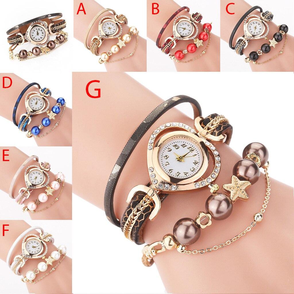 News Ladies Watches 2021 Vintage Shining Pearl Bracelet Dial Analog Quartz Wrist Watches For Women часы брендовые женские
