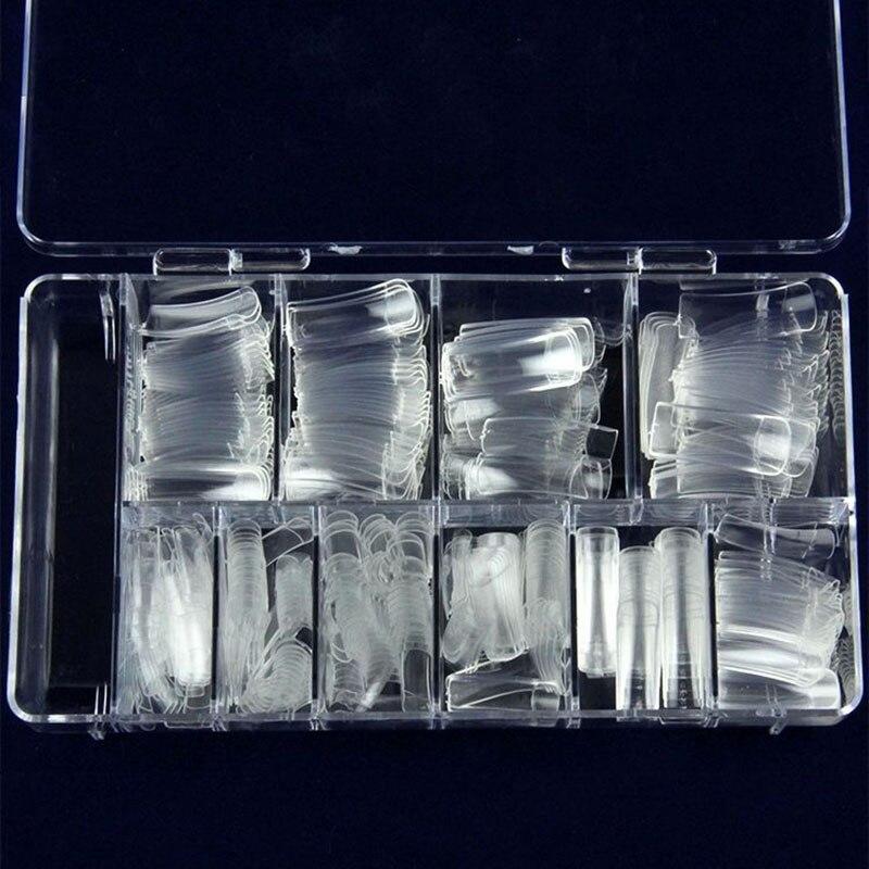 Women 100pcs Natural Color French False Nail Tips Artificial Fake Nails Art Acrylic Manicure Tools N