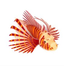Zachte Drijvende Kunstmatige Gloeiende Lichtgevende Lionfish Silicone Fish Tank Aquarium Ornament Decor