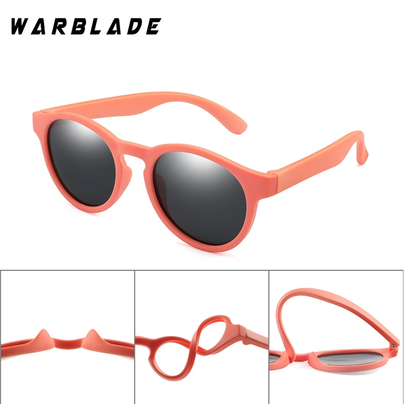 WarBLade Colorful Flexible Kids Sunglasses Polarized Boys Girls Round Sun Glasses Child Baby Eyewear