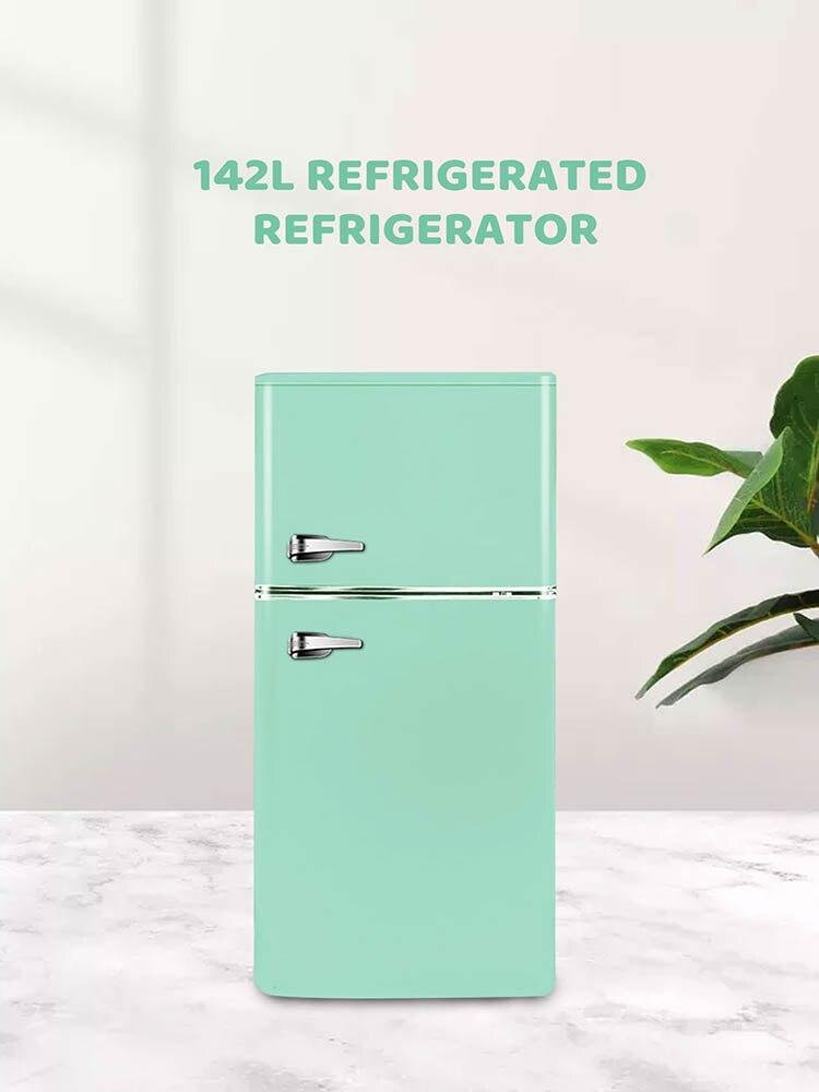 220V 108L Retro Refrigerator Household Small Living Room Cosmetic Refrigerator Fashion Refrigeration Mask Small Refrigerator