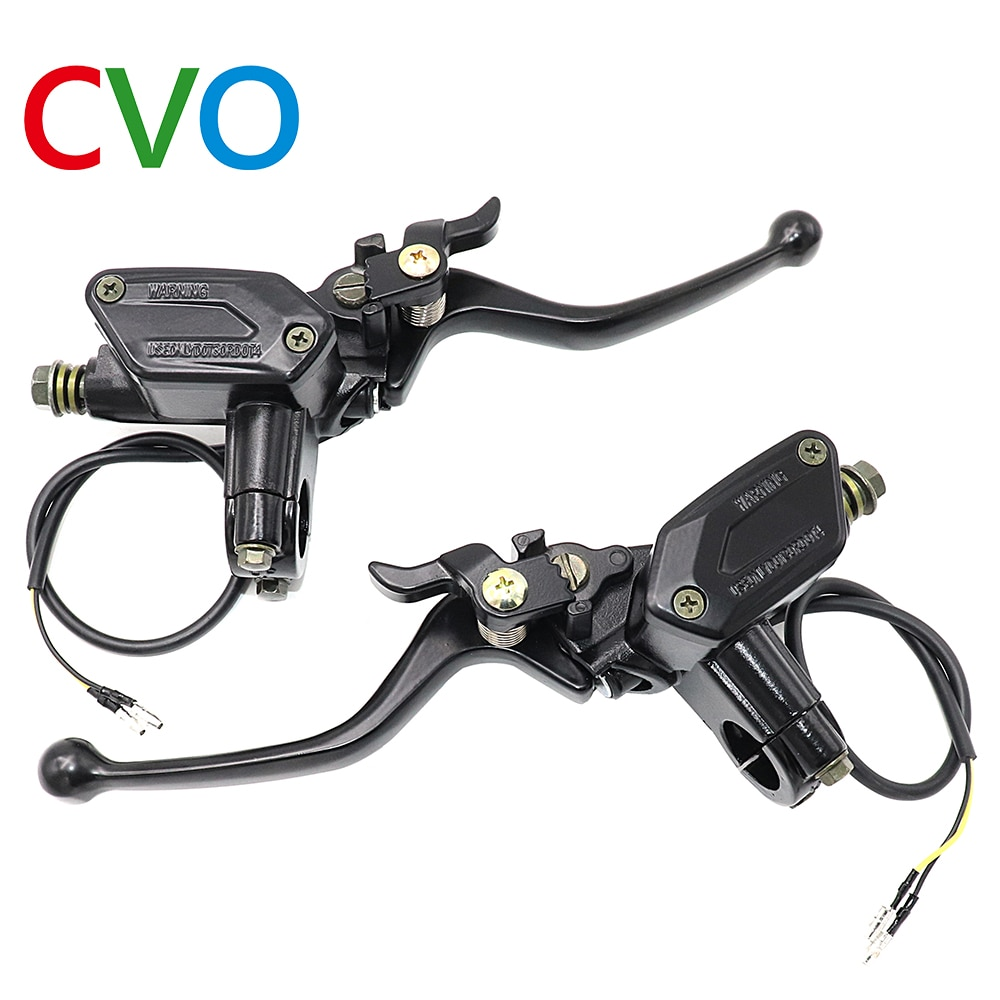Motorcycle brake Pump Buggy 50-250CC Scooter Universal Cylinder Hydraulic Pump Clutch Handle Accessories Left Right Brake Lever motorcycle brake pump buggy scooter universal cylinder hydraulic clutch handle accessories left right black silver brake lever