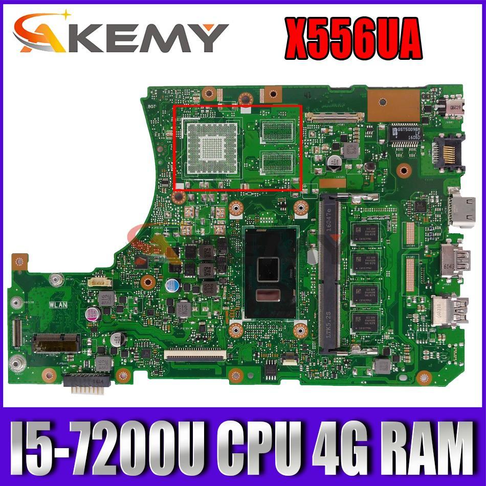 ل Asus VivoBook X556UA X556UAM X556UAK X556UV X556U اللوحة الأم للكمبيوتر المحمول اللوحة الرئيسية مع وحدة المعالجة المركزية I5-7200U 4G RAM DDR4 اختبار كامل 100%