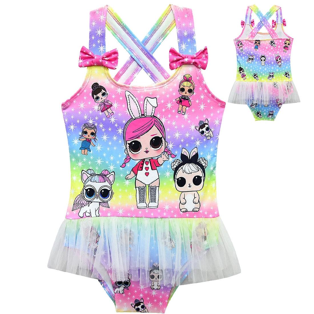 LOL-muñecos sorpresa originales, bañador para niña, traje de baño para niñas, playa, lol, muñecos para sorpresa, regalo de cumpleaños para fiesta, chico