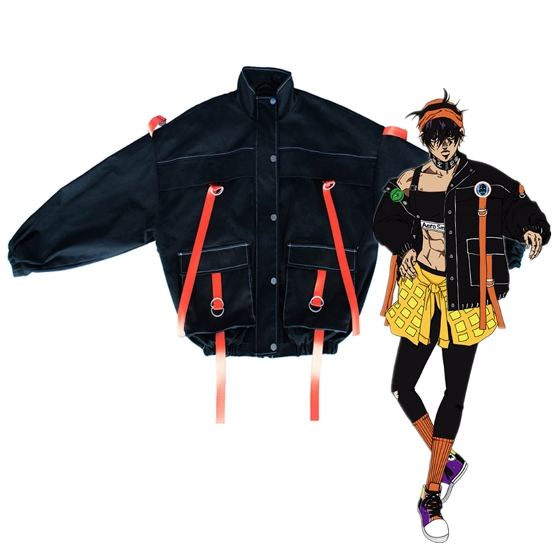 Anime JoJo Bizarre Adventure Narancia Ghirga Cosplay Costume Only Coat Autumn Winter Daily Coat Halloween Costume For Unisex