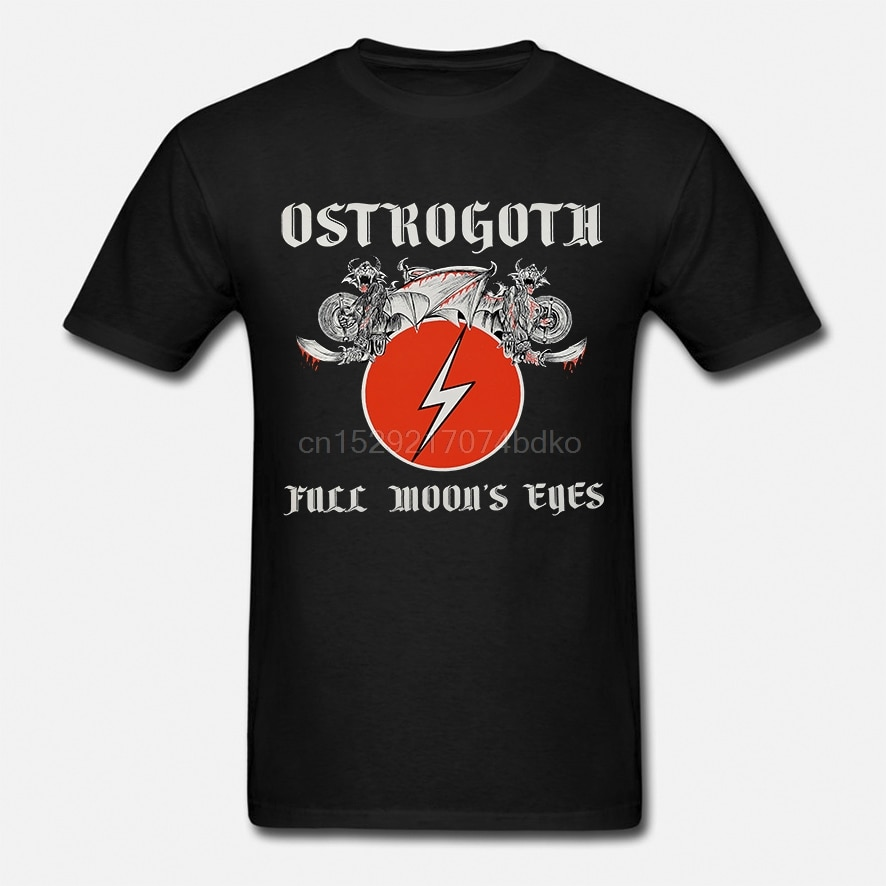 Ostrogoth-Luna Llena de ojos negro Camiseta sizes Negras S-5XL Camiseta de algodón...
