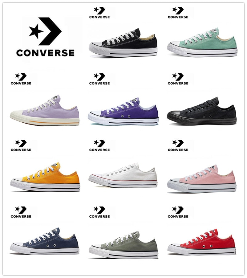 Converse-All Star Chuck Taylor Shoes Original Men Women Sneakers Unisex Low-Top Canvas Skateboarding Shoes