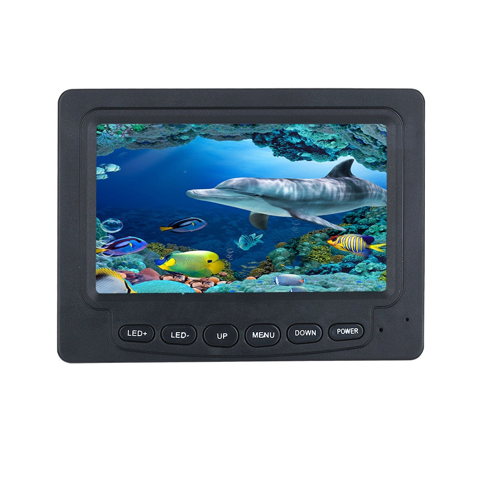 30M 1200TVL Fish Finder Underwater Fishing Camera 4.3 inch Monitor 10PCS LED Night Vision 195 Degrees Sea wheel Camera For Fishi enlarge