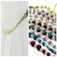 1pcs bead curtain tieback home decor gold curtain accessories holdback curtains holder buckle rope room accessories