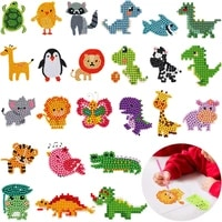 24 pieces 5d diy diamond painting kits animal diamond stickers by number kits arts for kids and adult beginners crafts making