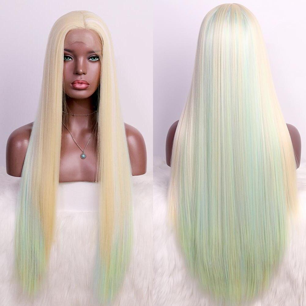 oley peruca lace front sintetica com ombre peruca loira resistente ao calor arco