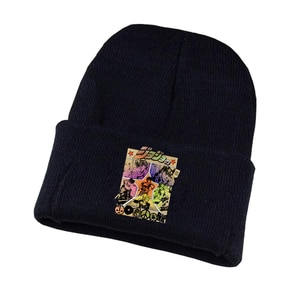 JoJo's Bizarre Adventure Knitted hat Cosplay hat Unisex Print Adult Casual Cotton hat teenagers winter Knitted Cap
