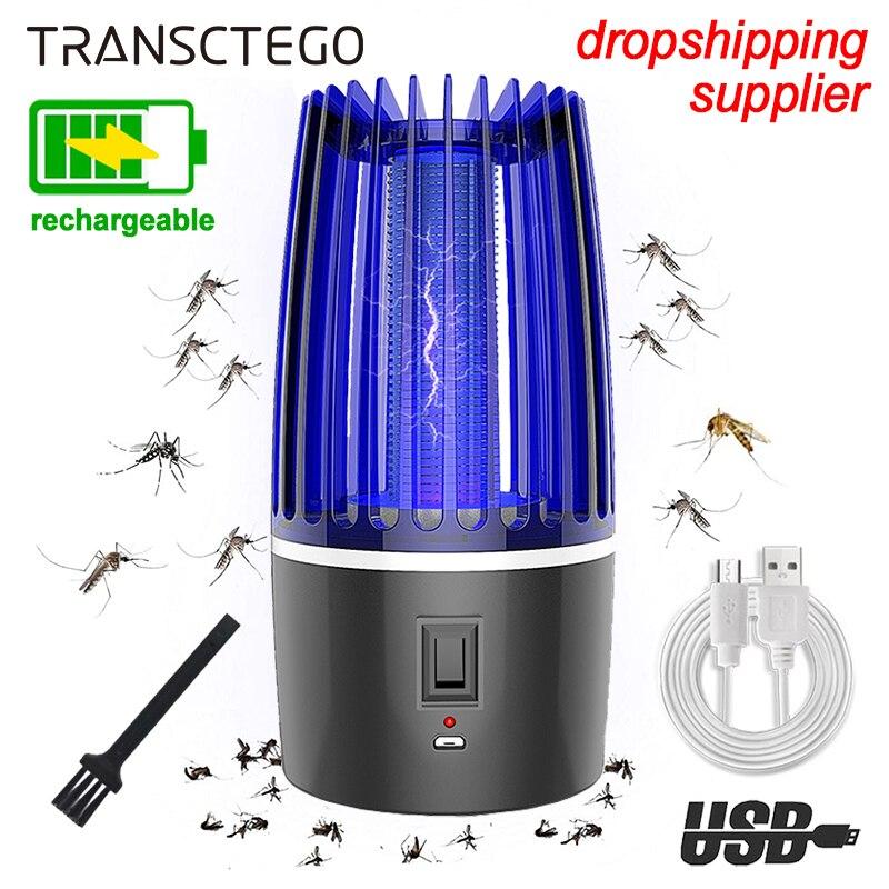 Lámpara antimosquitos recargable, matamoscas, repelente de insectos, USB, luz UV