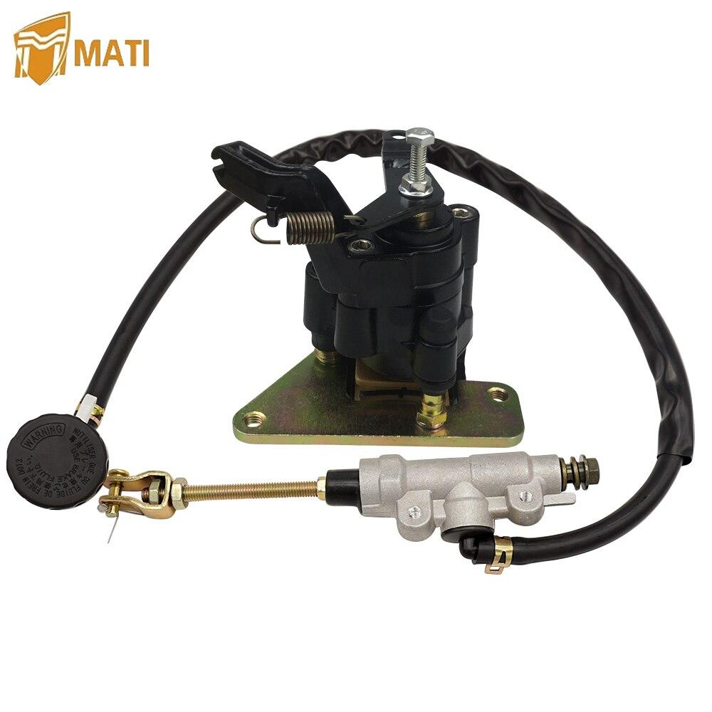 For Suzuki ATV Quadsport 400 LTZ400 LTZ400Z LT Z400 Z400Z 2003-2008 Rear Brake Master Cylinder & Brake Caliper