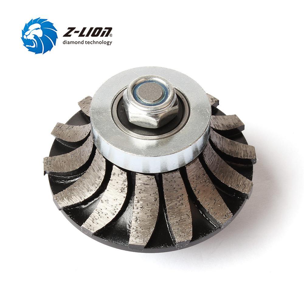 Z-LION rueda de perfil de diamante A30 broca de enrutador segmentado 5/8-11 M14 Muela de Diamante de Arbor para granito mármol Borde de encimera