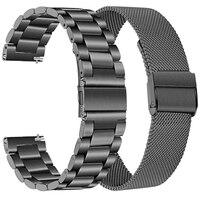 Ремешок из нержавеющей стали для Xiaomi Huami Amazfit Bip S Lite U Pro, металлический браслет для смарт-часов Amazfit GTS 2 Mini, 20 мм