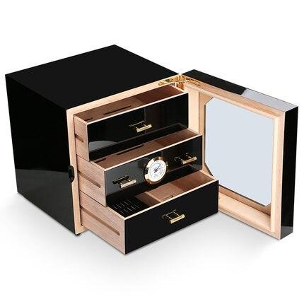Wooden Medium Cigar-4 Layer Drawers Decent Cigar Storage Box Cabinet Humidor Cedar Wood Lined Humidifier Hygrometer enlarge