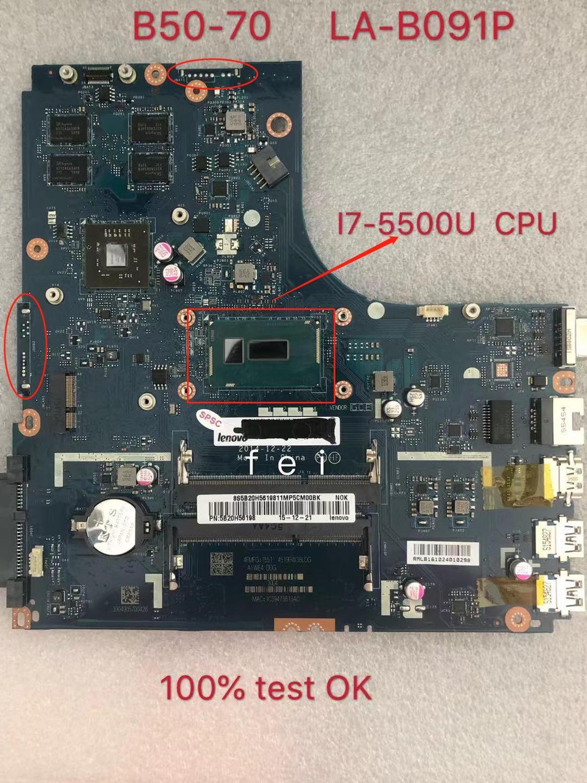 تنطبق على B50-70 دفتر اللوحة I7-5500U VGA(2G) عدد LA-B091P FRU 5B20G46054