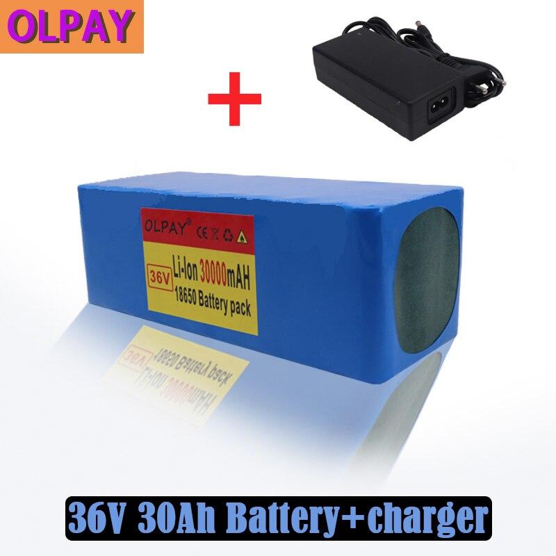 10S4P 36 فولت بطارية 30Ah بطارية 1000 واط عالية الطاقة بطارية 42 فولت 30000 مللي أمبير 36 فولت دراجة كهربائية بطارية BMS مع + 42 فولت شاحن