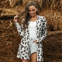 autumn and winter leopard print womens sweater cardigan fashion loose casual sexy lady jacket coat
