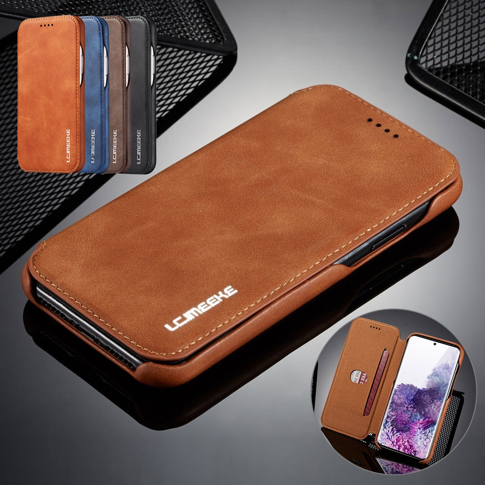 Original Leather Phone Case For Samsung S20 5G Ultra S10 S9 Plus S10E S8 S7 Edge Note 10 9 8 Ultra T