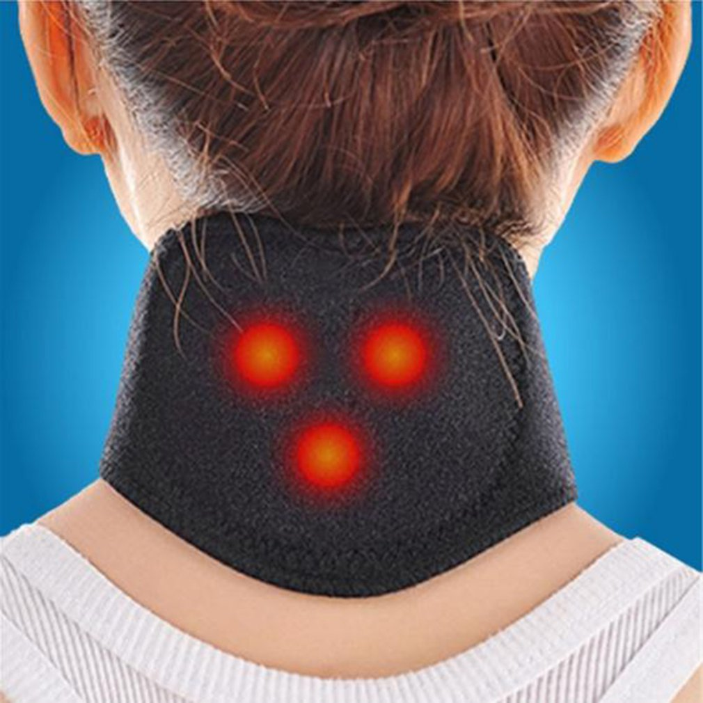 1pc Neck Belt Tourmaline Self Heating Magnetic Therapy Neck Wrap Belt Brace Pain Relief Cervical Vertebra Protect Health Care
