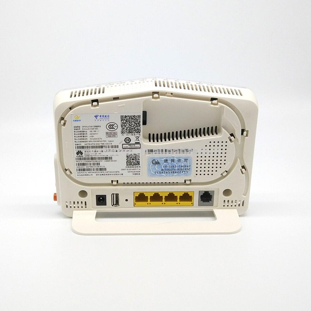 5 قطعة/الوحدة شحن مجاني مجددة HG8245C HG8145C EPON GPON XPON oNU 4FE + WIFI محطة مودم راوتر FTTH ONT الإنجليزية نظام