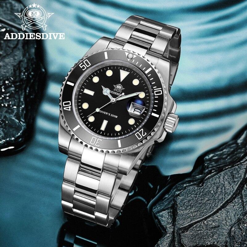 Relógio de Aço Relógio de Quartzo Nova Moda Inoxidável Mergulhador Relógio 200 m C3super Luminoso Esporte Luxo Aço Masculino 2021