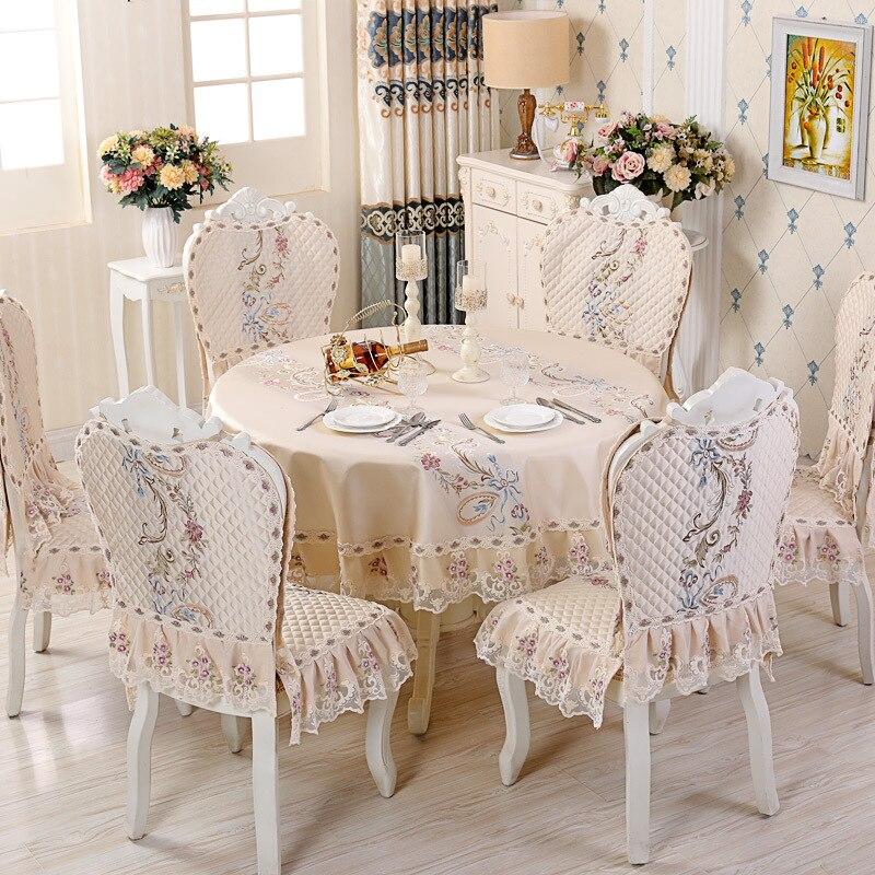 مفرش طاولة أوروبي مستدير ، غطاء وسادة كرسي من الدانتيل ، غطاء طاولة بجانب السرير ، أغطية مكتبية ، ديكور منزلي