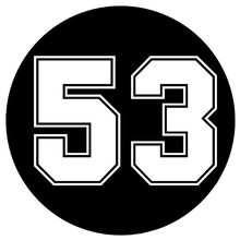 Car Stickers Decor Motorcycle Decals Decal Number 53 Decorative Accessories Creative Sunscreen Water