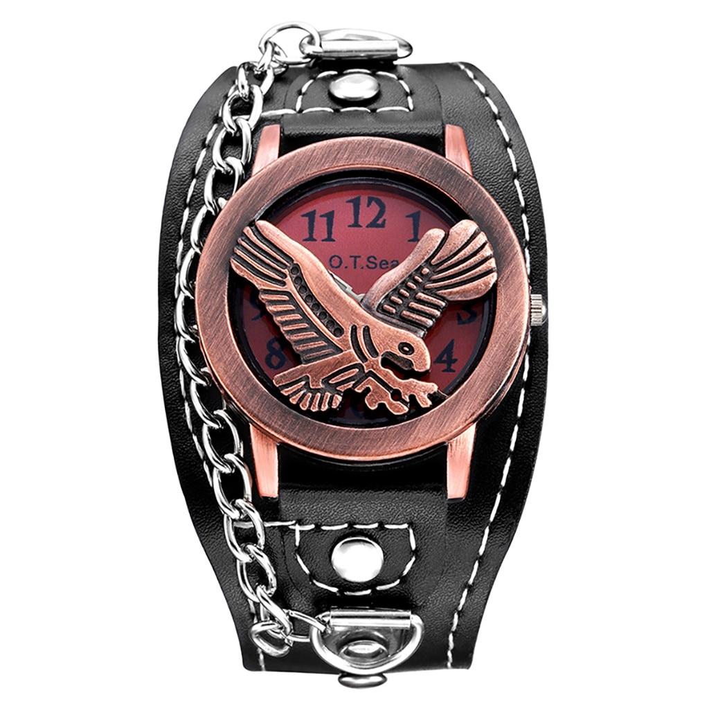 Nuevo reloj para hombres y mujeres, relojes Cool Retro Chain, correa de cuero de moda, reloj de cuarzo, reloj Masculino, regalos, reloj Masculino, envío directo