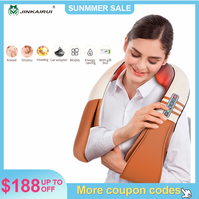 AliExpress - U Shape Electrical Shiatsu Back Neck Shoulder Body Massager Infrared Heated Kneading Car/Home Massager New Arrival  JinKaiRui
