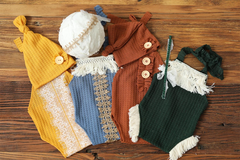 Реквизит для фотосъемки новорожденных комбинезон шляпа головные уборы наряд Одежда для дома детская фотостудия реквизит аксессуары