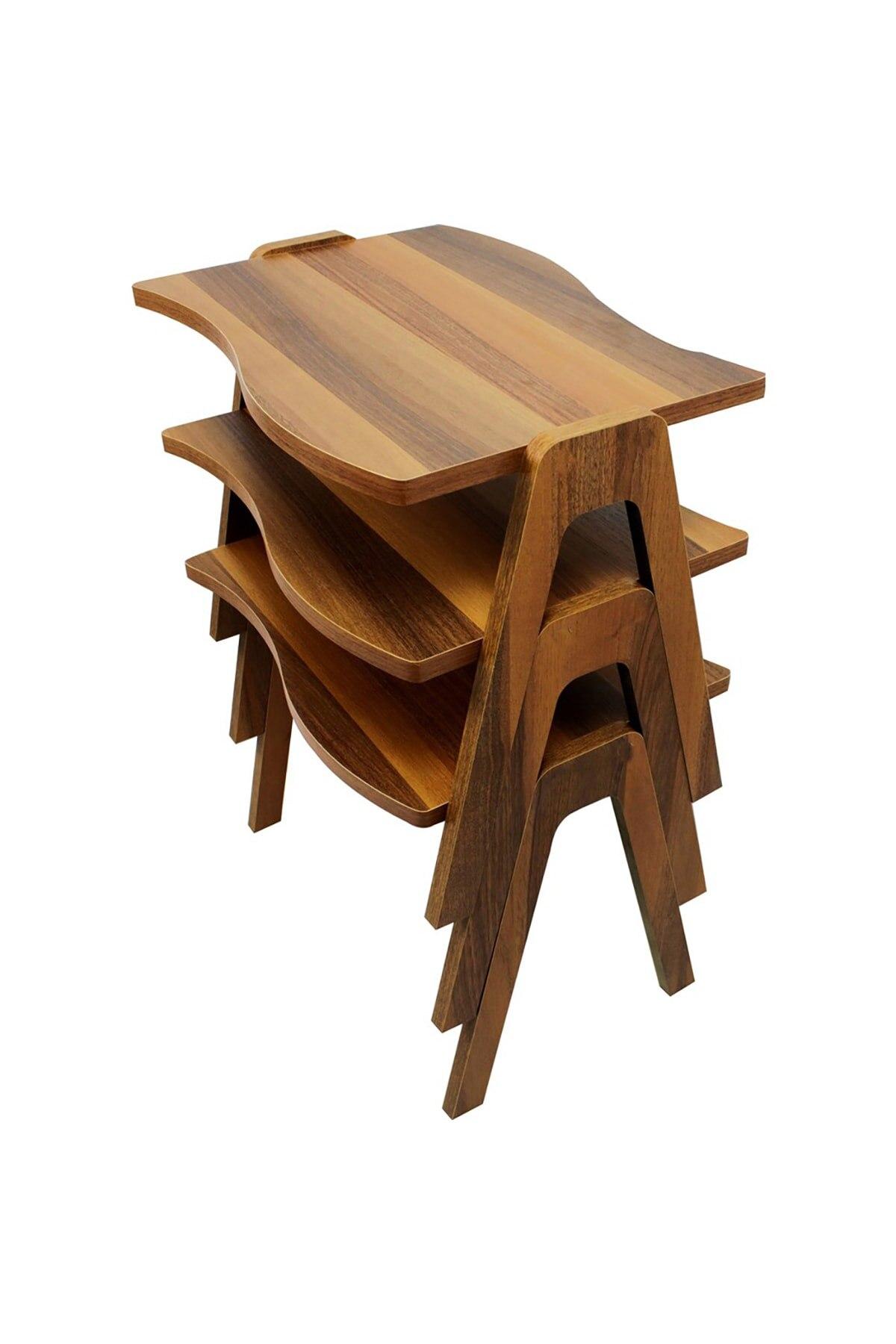 Zigon Sehpa & Orta Sehpa Ceviz-Ceviz Ayak Oturma Odası Dekor Moda modern ahşap kahverengi sehpa kahve sehpası çay sehpası meyve masası kanepe yanı oturma odası için mobilya sehpa