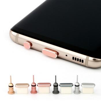 Тип C Пылезащитная заглушка для телефона Комплект USB портом Type-C и 3,5 мм разъем для наушников для Samsung Galaxy S8 S9 плюс для Huawei P10 P20 lite