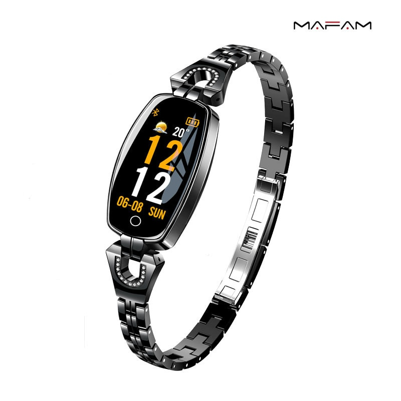 H8 Women's Color Screen Women's Full Touch Heart Rate And Blood Pressure Monitoring Fitness H8pro Women's IP67 Smart Bracelet enlarge