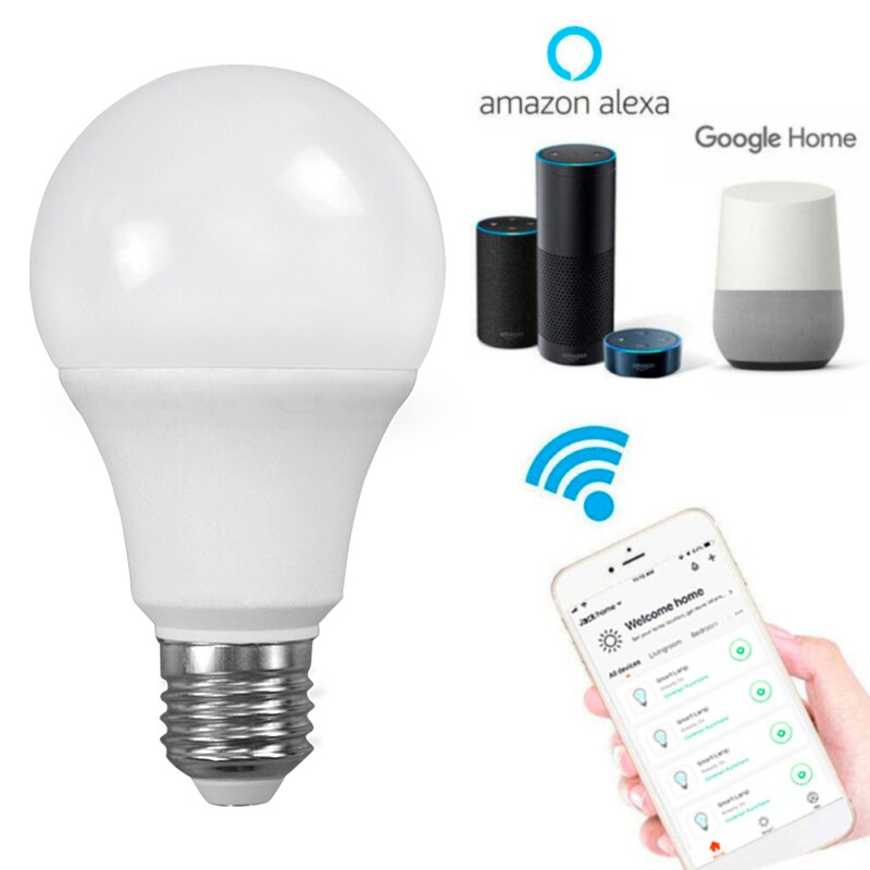Lámpara LED Ewelink de 5,5 W E27 con WiFi, luz fría y cálida, regulable, Compatible con Alexa y Google Home, Smart Light