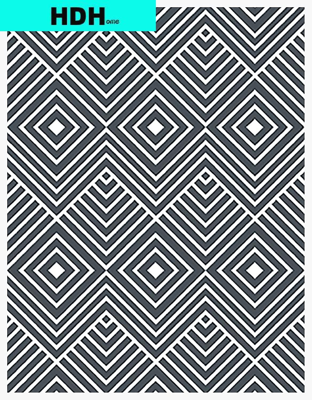 Rhombus Herringbone Self Adhesive Wallpaper Grey Blue Peel and Stick Wallpaper Removable Waterproof Wall Stickers for Wall Decor