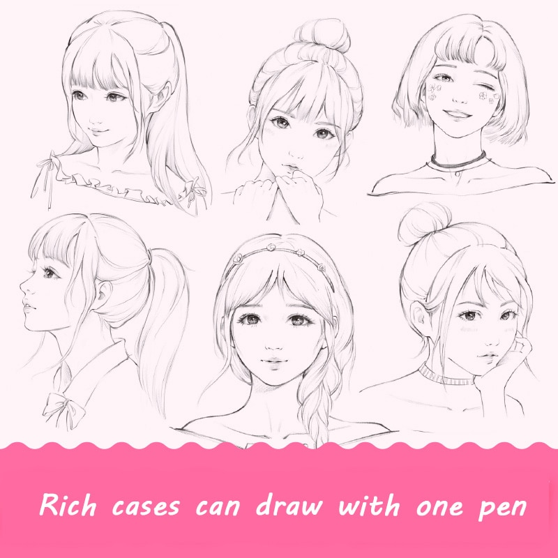 pencil drawing techniques and articles 100 kinds of flower 1 Books Beautiful Girl Color Pencil Drawing Tutorial Book Pencil Figure Painting Techniques for adult Libros Livros Livres Libro