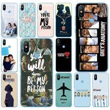 07DD American TV Greys Anatomy Soft Silicone Cover Case for Xiaomi Redmi 6 6a mi 8 a2 lite note 5 6 pro 7 case