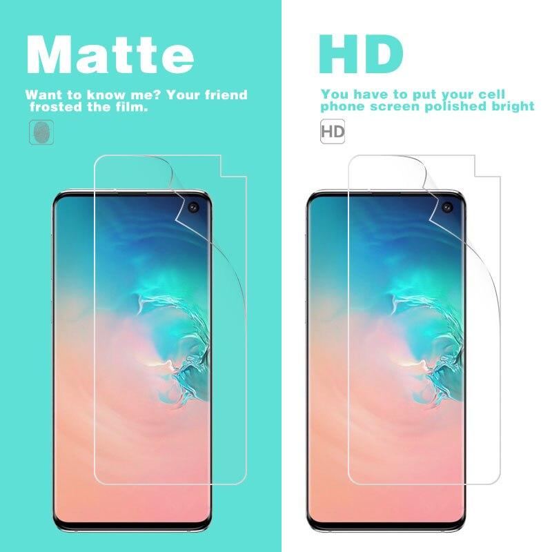 Película frontal LCD HD brillante transparente para Samsung S2 S10 S10E Plus...
