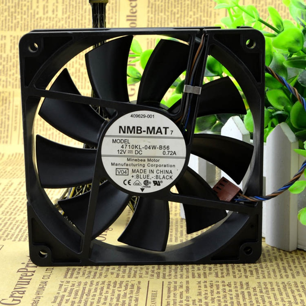 For NMB 4710KL-04W-B56 12cm 12025 120X120X25mm DC12V 0.72A 4-wire PWM industrial case axial cooling fans