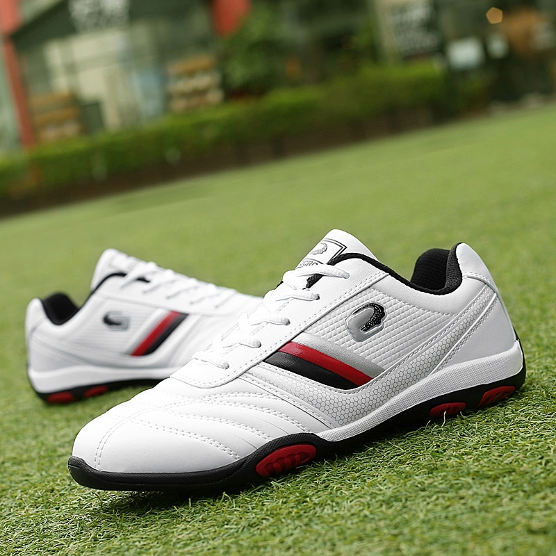 New Waterproof Men Golf Shoes Black White Comfortable Golf Walking Sneakers for Men Professional Sport Golf Trainers Brand new professional golf shoes men white black waterproof golf sneakers outdoor light weight footwear for men walking shoes
