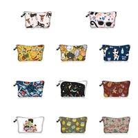 cartoon series pattern cosmetic storage bag makeup organizers zipper bags portable wash bag travel handbag
