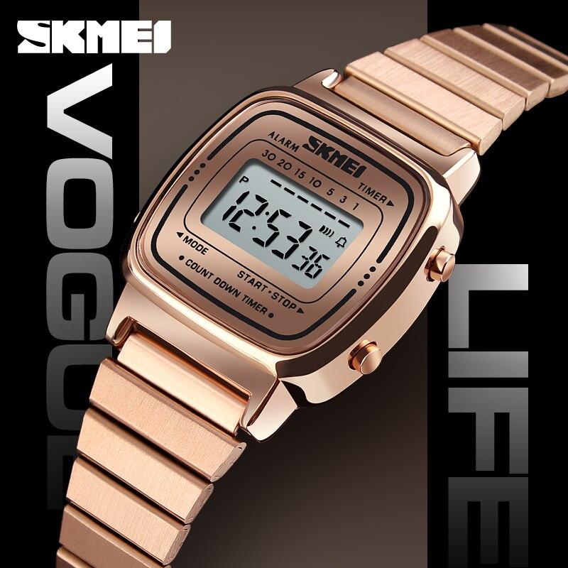 5pcs SKMEI Lady Digital Watch Top Brand Luxury Female Waterproof Dial Electronic Watch Fashion Sport Watch 1252