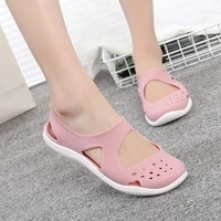 womens sandals 2021 fashion lady girl sandals summer women casual jelly shoes sandals hollow out mesh flats beach sandals